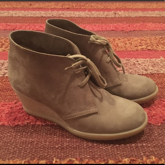 4c0b15a9accd J. Crew Shoes - J.CREW Factory Suede Lace-up Wedge Boots (